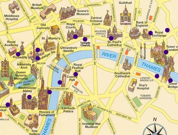 carte des monuments de londres stopeads. Black Bedroom Furniture Sets. Home Design Ideas